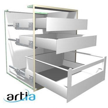 Artia Double Wall Drawer System