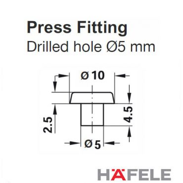 HAFELE Door and Drawer Buffers