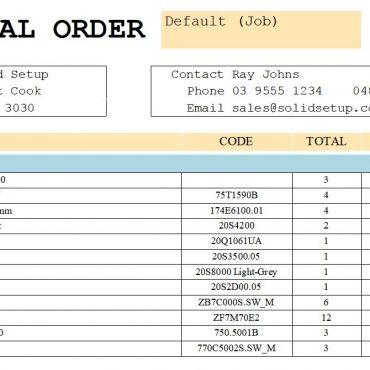 Report Material Order by Vendor V9/V11/V12
