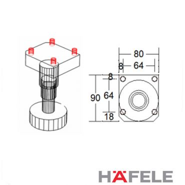 Hafele Plastic Legs Position and Editing V9-V11