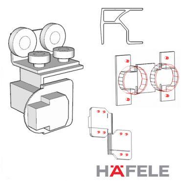Hafele Sildo Fold 25 (Twinline) Folding Doors