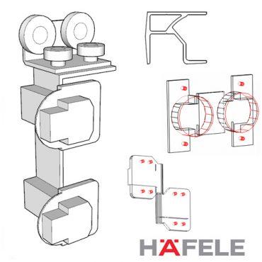 Hafele Slido Fold 50 (Twinline) Folding Doors