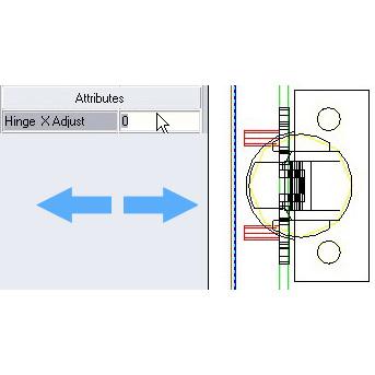 Hinge X Position Adjust via Attribute