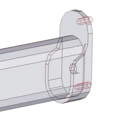 Oval Hanging Rods with Brackets