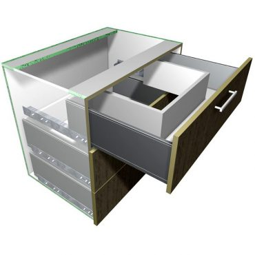 Sink Box Insert for Metal Sided Drawers